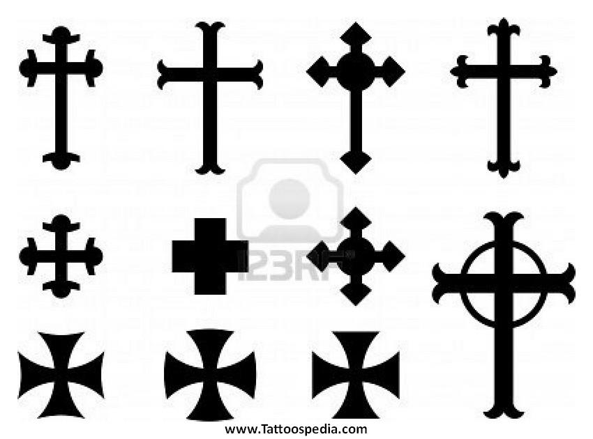 850x630 Cross Tattoos Vector 3