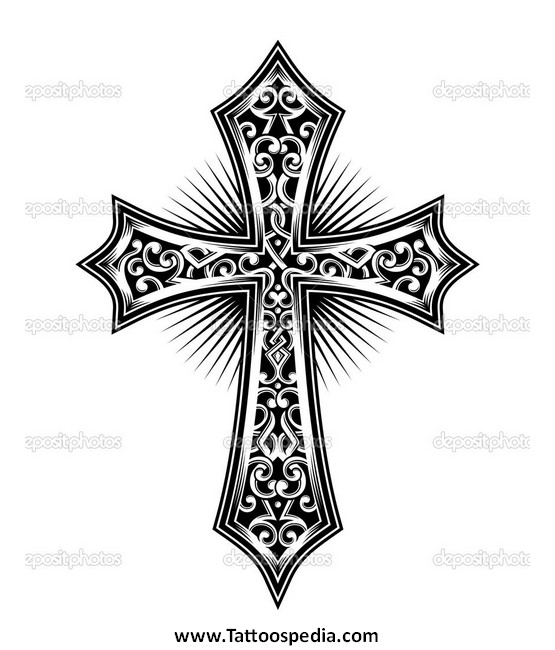 555x650 Cross Tattoos Vector 5
