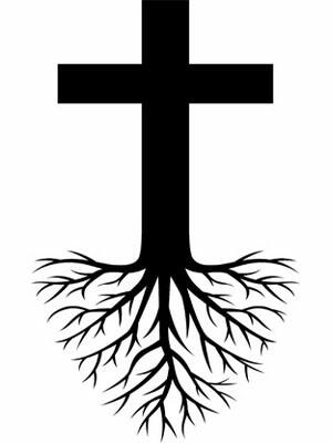 300x400 Cross Tree Roots Tattoo Design Coffee Shop Ideas Cross Vector