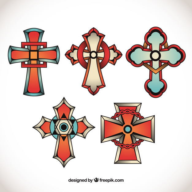 626x626 Cross Tattoo Collection Vector Free Download