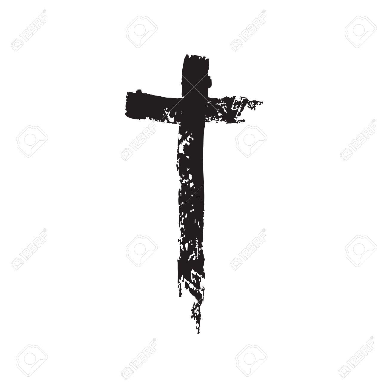 1300x1300 Crucifix Clipart Vector