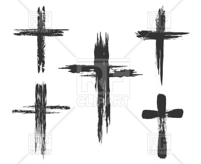 400x327 Hand Drawn Christian Cross Signs Vector Image Vector Artwork Of