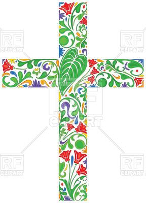 288x400 Herbal Christian Cross Vector Image Vector Artwork Of Signs