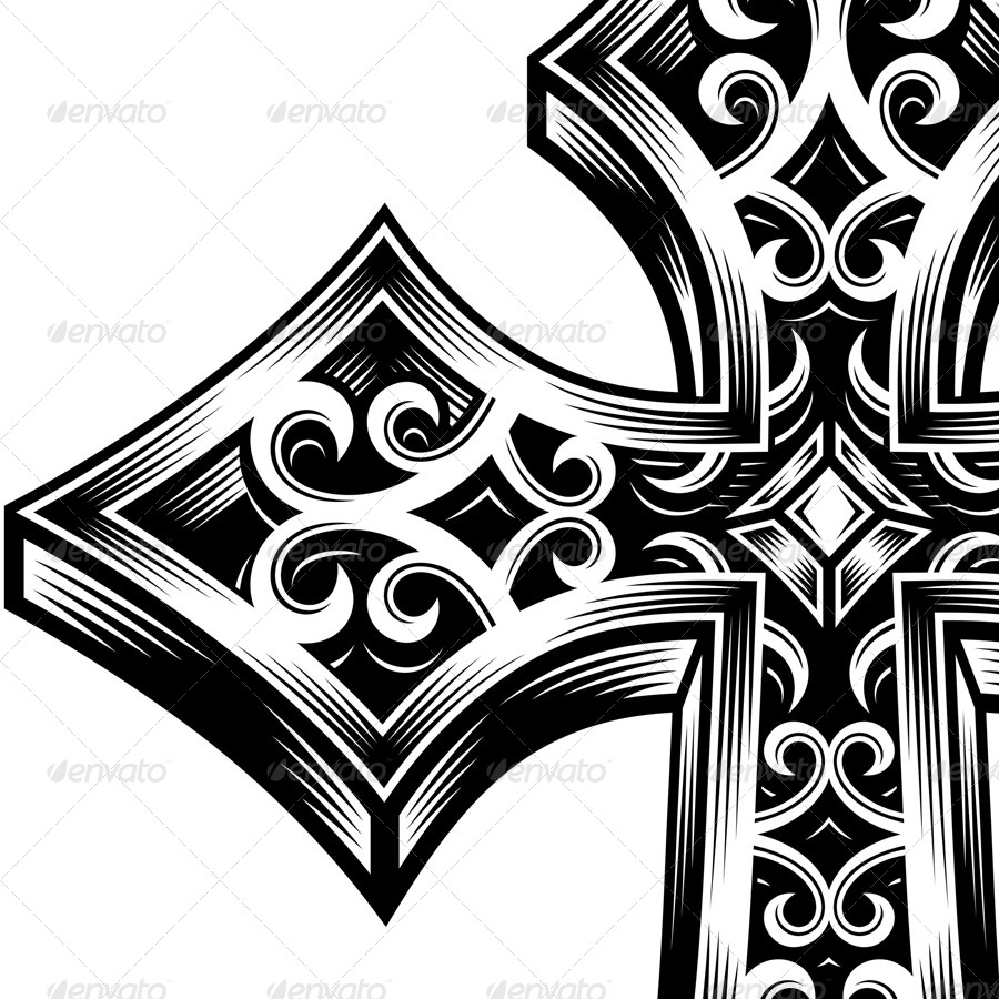 900x900 Ornate Celtic Cross Vector By Vectorfreak Graphicriver
