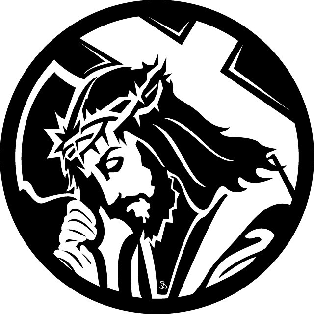 640x640 Jesus Carrying The Cross Free Vector 123freevectors