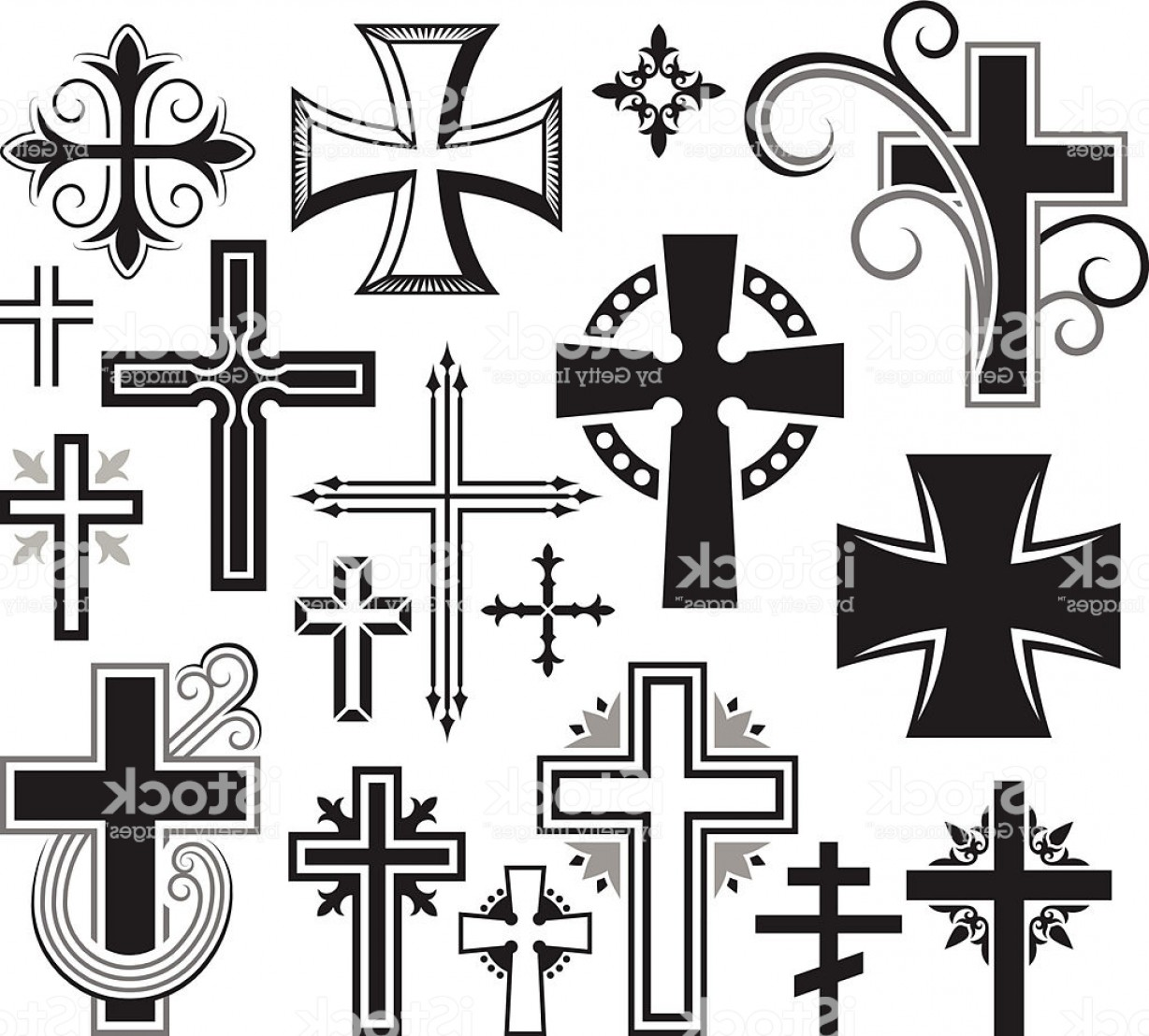 1228x1108 Christian Cross Black And White Royalty Free Vector Icon Set Gm