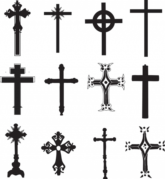 552x600 Cross Religious Symbol Christian Religion Free Vector In Adobe