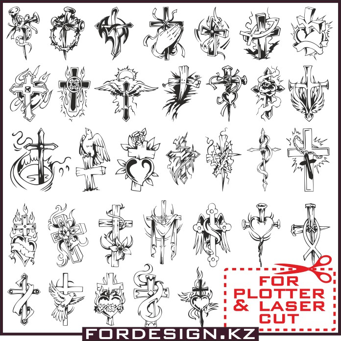 696x696 Cross Vector Crosses In Vector Free Download For Plotter Cutting