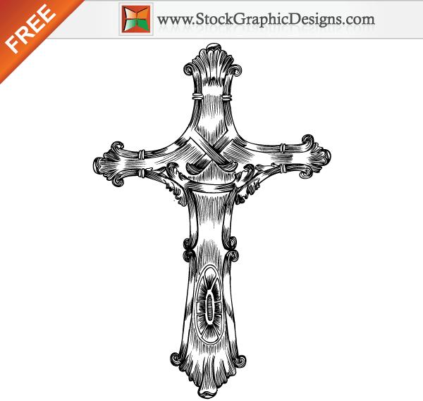 600x570 Free Hand Drawn Cross Vector Free Religion Vectors
