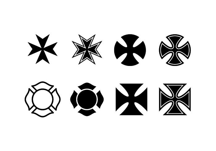700x490 Free Maltese Cross Vector