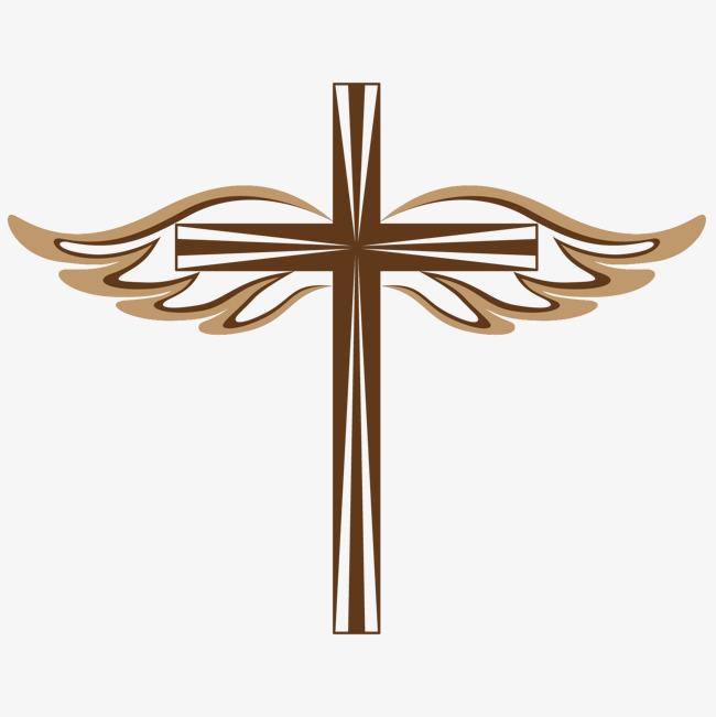 650x651 Jesus Cross Decoration Illustration, Cross, Jesus, Angel Wings Png