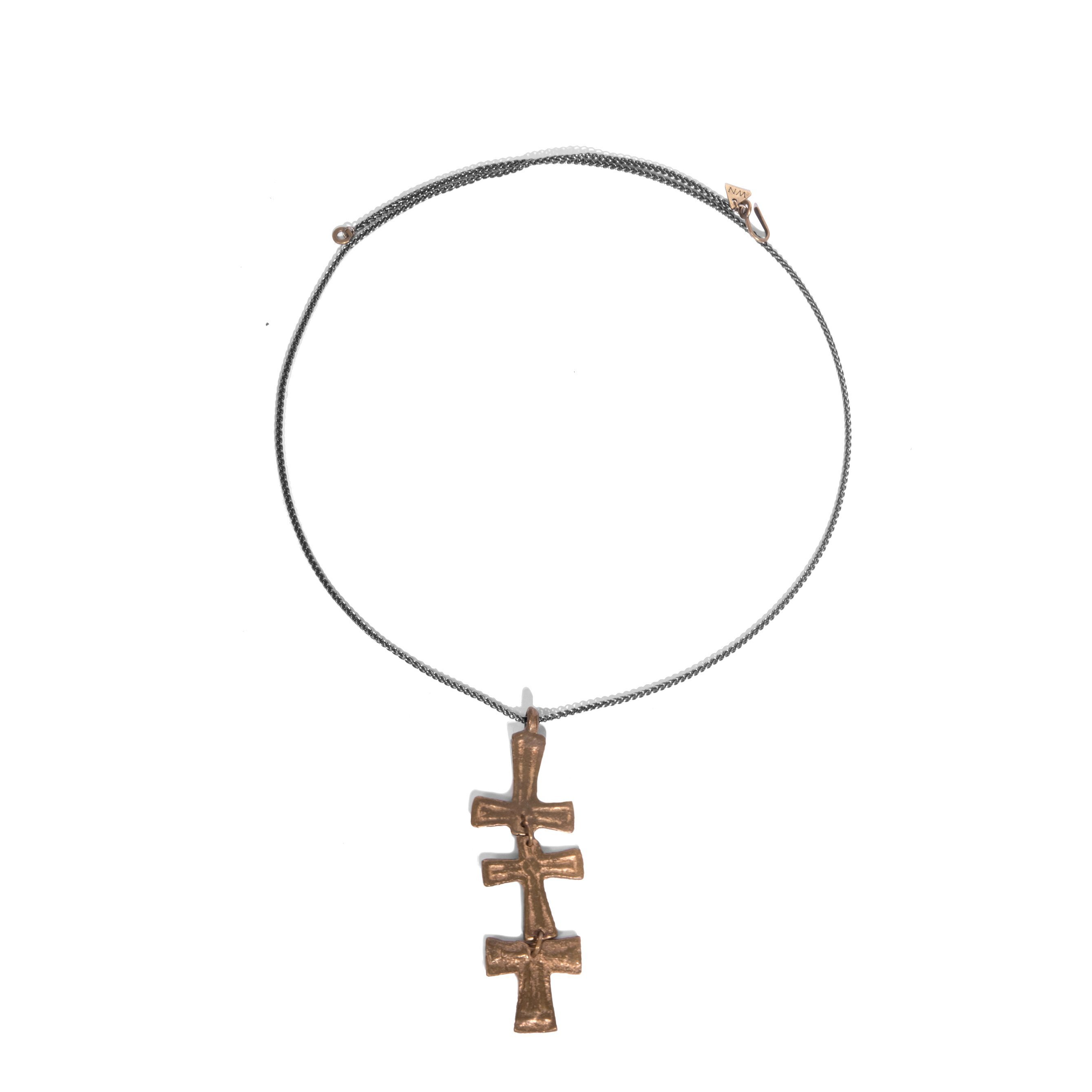 2678x2678 Fun Triple Cross Necklace Necklaces Chokers Wendy Nichol Vector