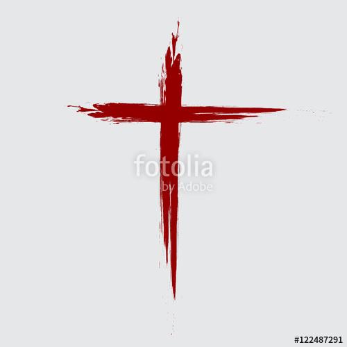 500x500 Hand Drawn Black Grunge Cross Icon, Simple Christian Cross Sign