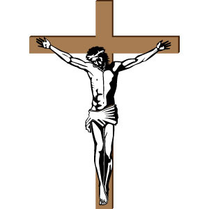 300x300 Jesus Crucified On The Cross Vector