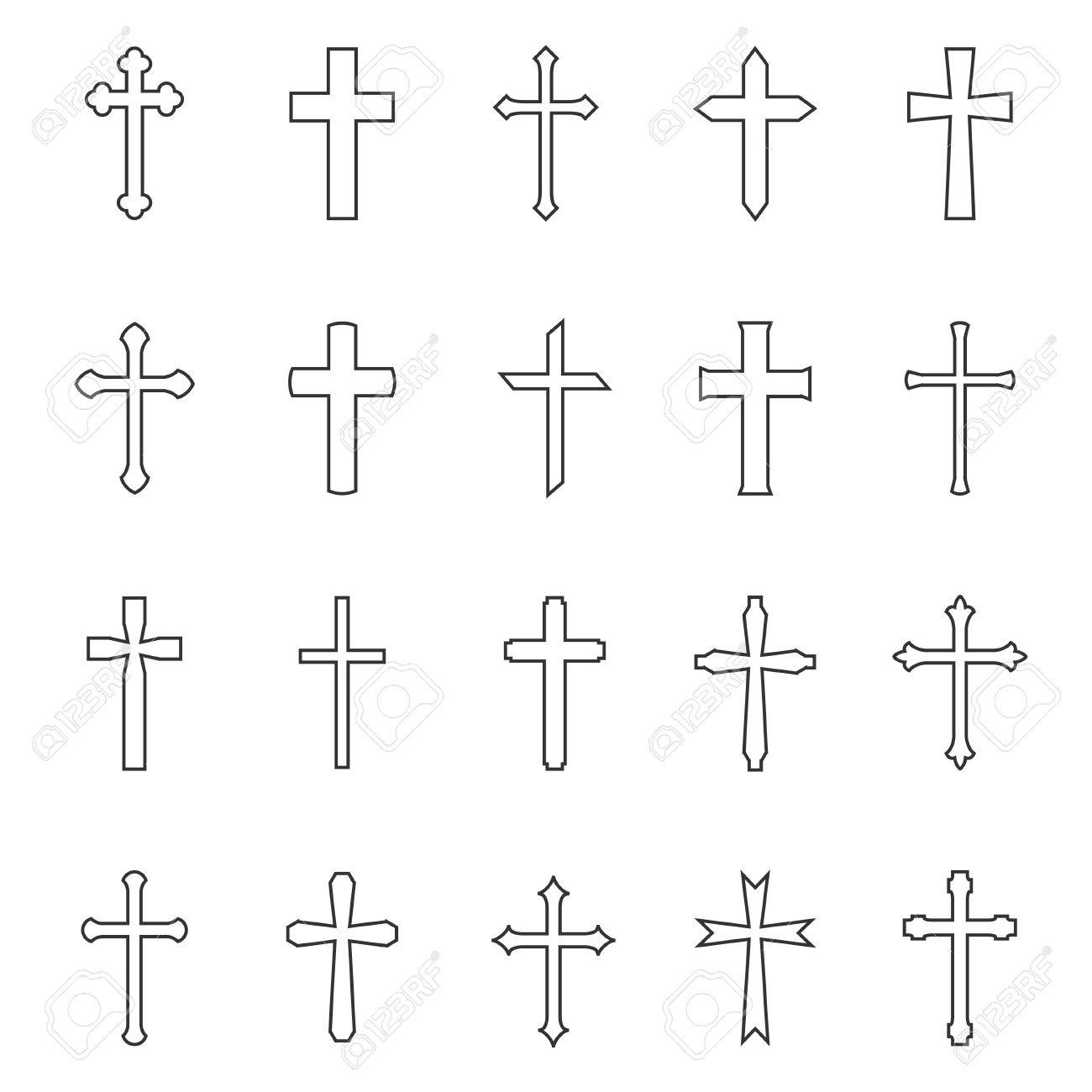 1300x1300 Cross Outline