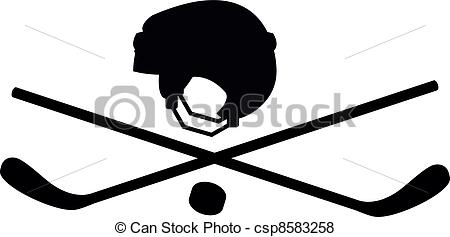 Crossed Hockey Sticks Vector
