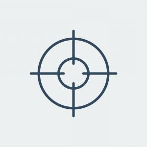 300x300 Aim Icon Target Symbol Crosshair Vector Arenawp