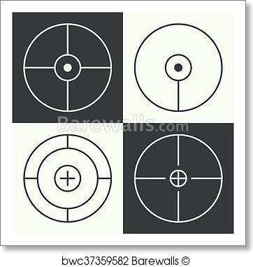 362x382 Art Print Of Different Types Of Crosshair. Barewalls Posters