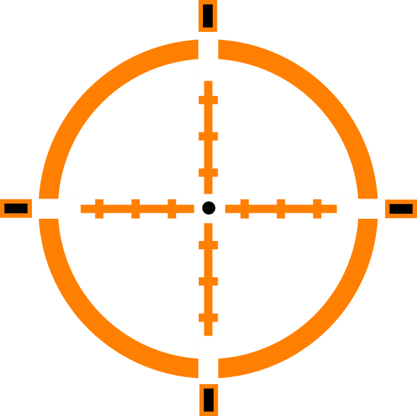 600x599 Collection Of Free Crosshair Vector Scope. Download On Ubisafe