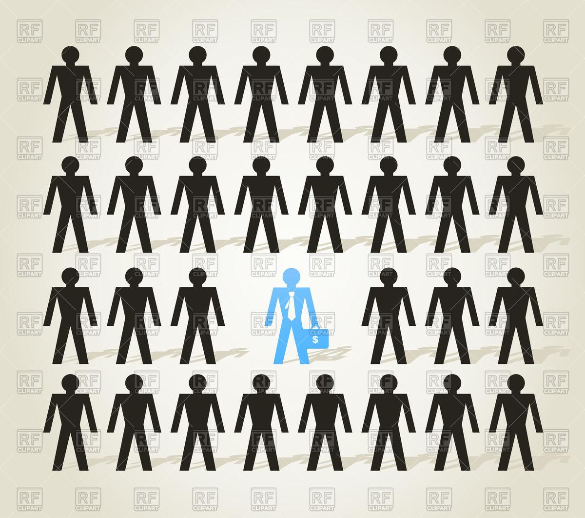 1200x1062 Crowd Of Pictogram People Vector Image Vector Artwork Of People