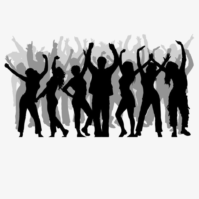 650x651 Crowds Of People Silhouette, People Vector, Silhouette Vector