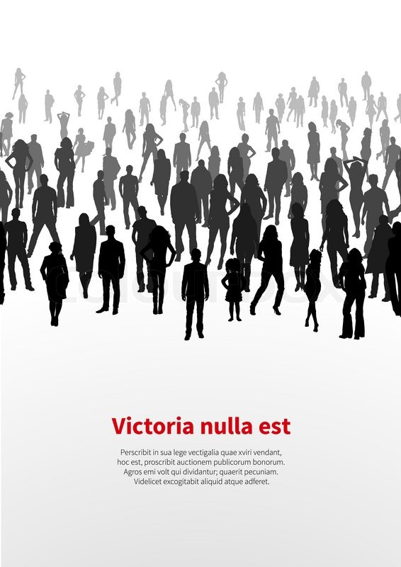 566x800 A Large Crowd Of People. Vector Background Stock Vector Colourbox
