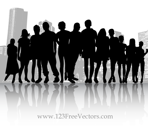 600x510 Free Free Vector Crowd People In The City Psd Files, Vectors