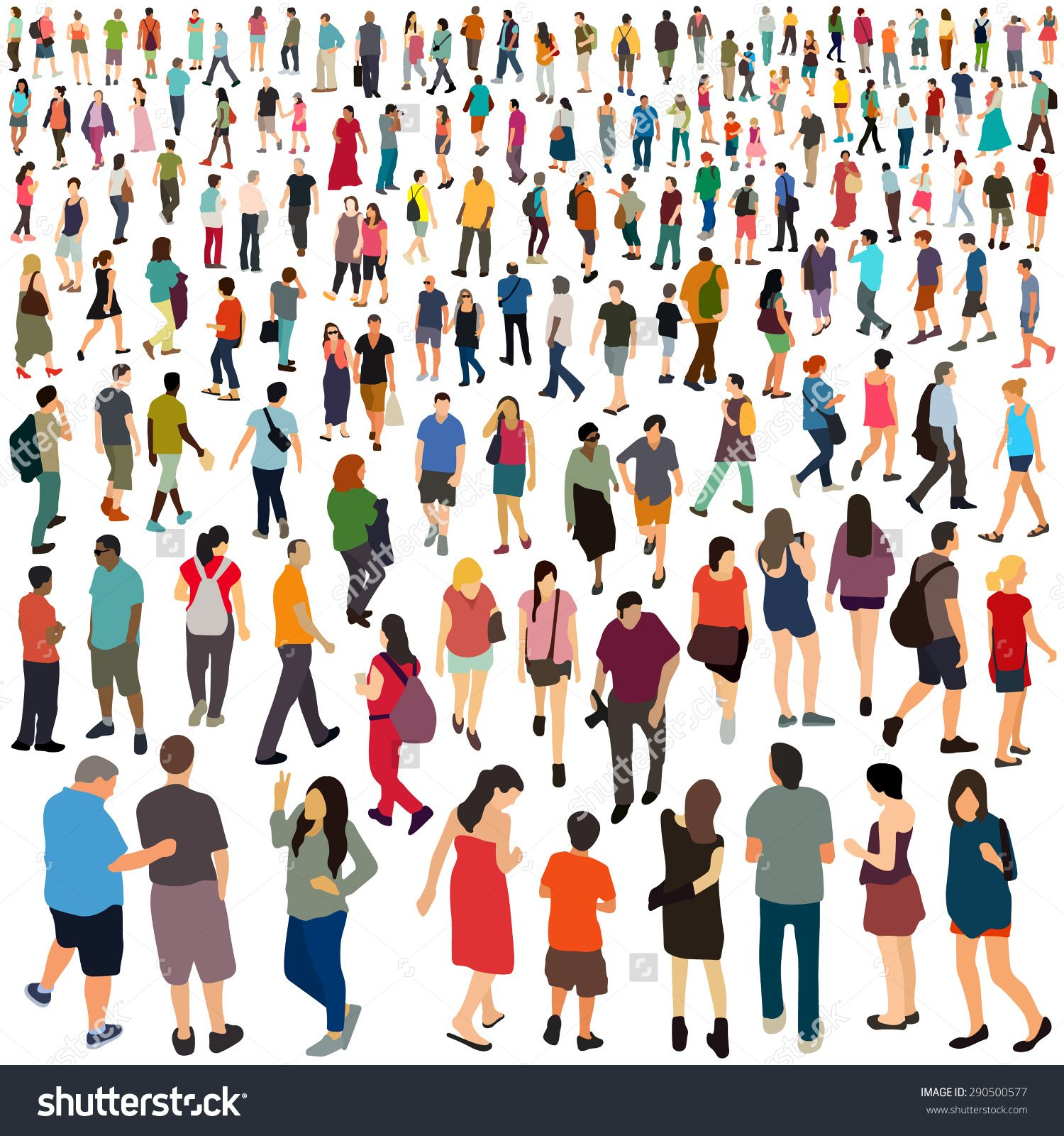 1500x1600 People. Vector Illustration. Arch Drawing