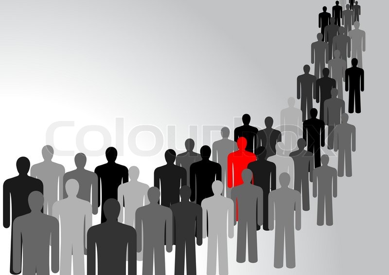 800x566 Symbol Of People, Representing The Crowd, In Vector Stock Vector