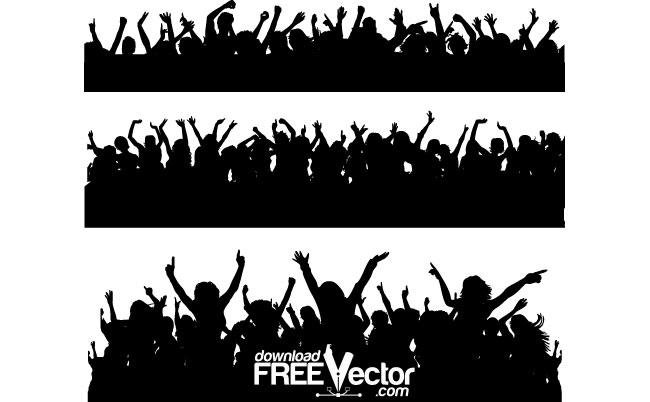650x402 Vector People Crowd Free Vector 4vector