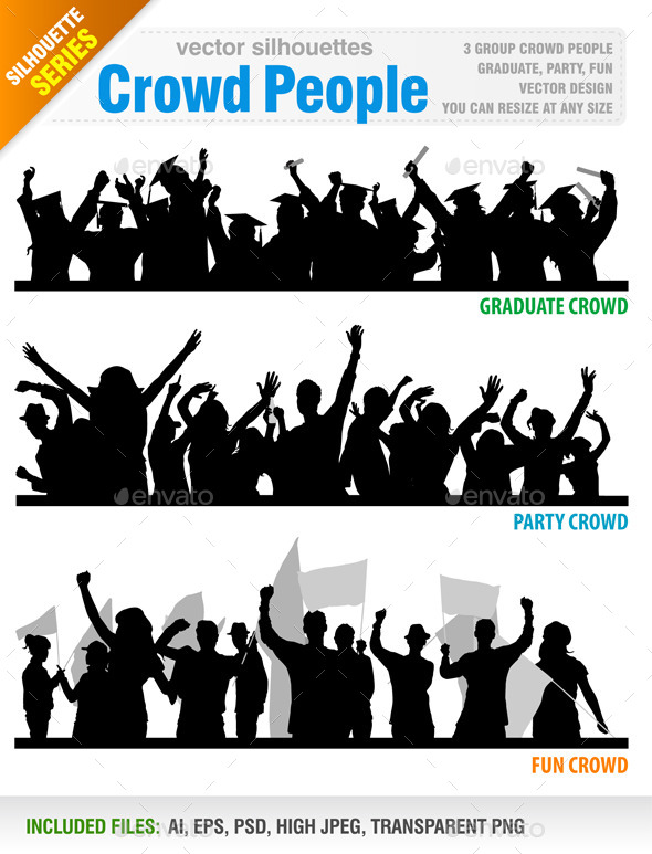 590x773 Crowd People Vector By Jackrust Graphicriver