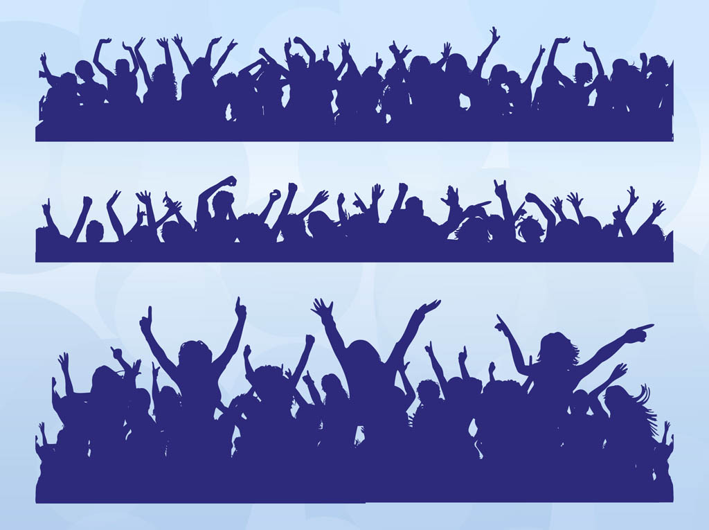 1024x765 Dancing Crowds Vector Art Amp Graphics