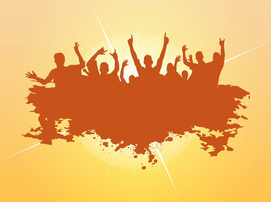 1024x765 Dancing Vector Crowd Vector Art Amp Graphics