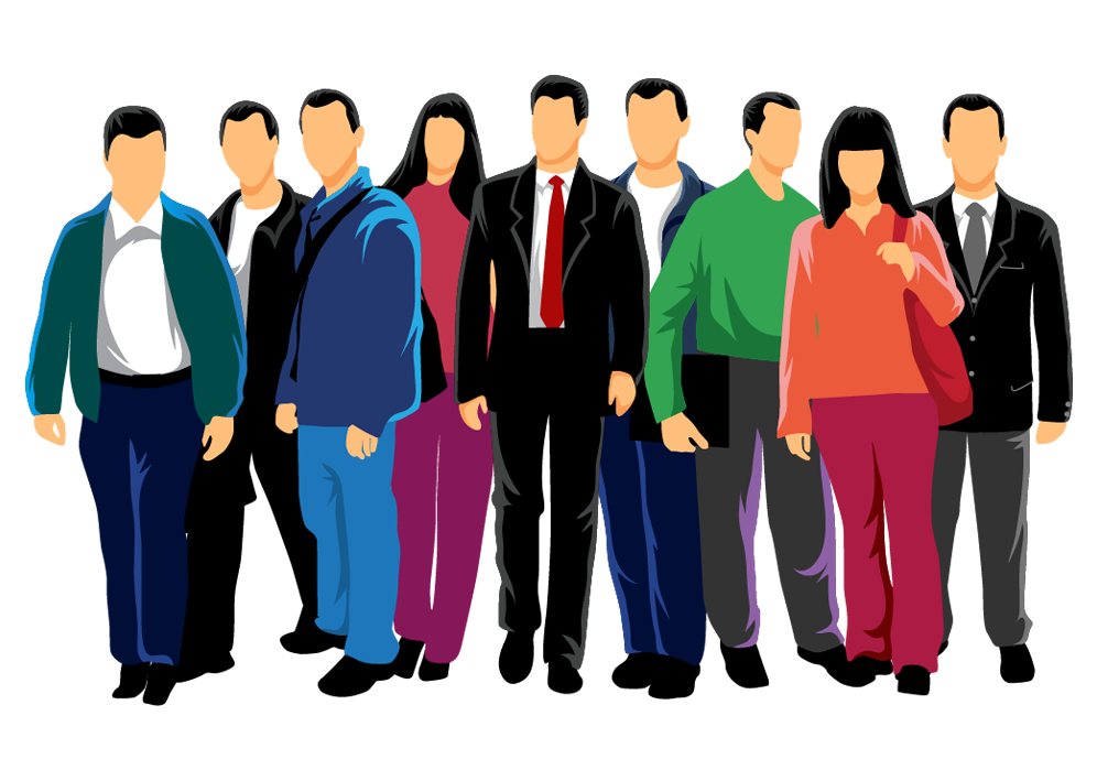 996x709 Euclidean Vector People Crowd