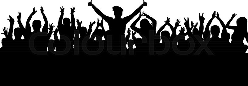 800x279 Applause Crowd Silhouette Stock Vector Colourbox