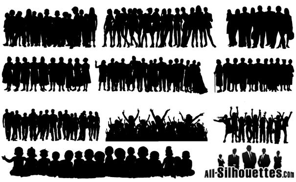 605x373 People Crowds Vectors [Eps Svg Ai Files] Free Vector