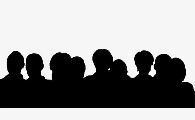 650x400 Black Silhouette Crowd Silhouette, Crowd, Black, Silhouette Png