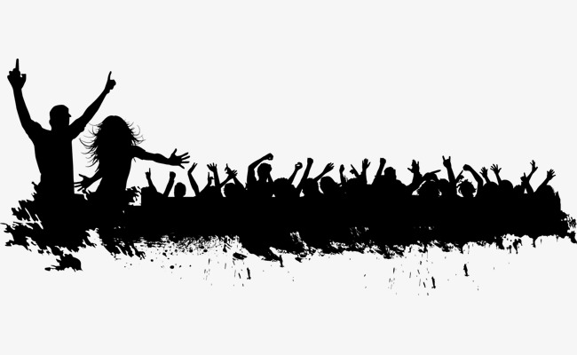650x400 Carnival Crowd Silhouette Vector Material, Carnival, Crowd, Sketch