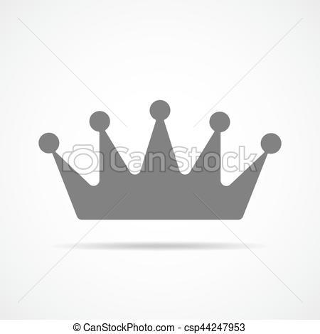 450x470 Gray Crown Icon. Vector Illustration. Gray Crown Icon. Crown