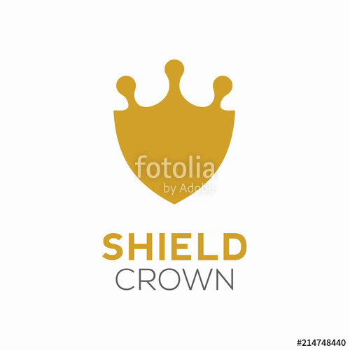 500x500 Shield Crown Royal Logo Design Template Stock Image And Royalty