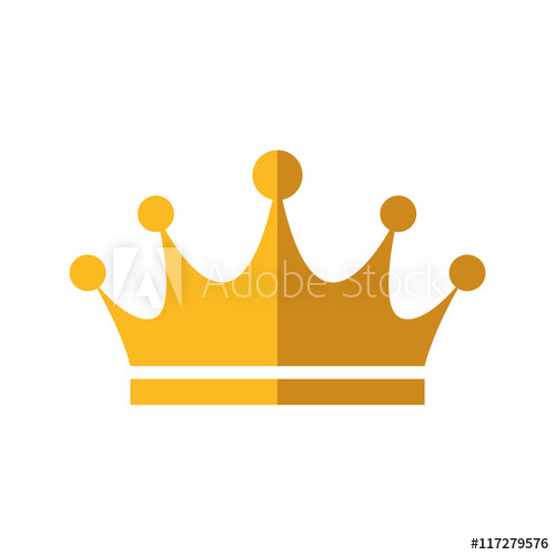 500x500 Crown Royal King Gold Icon. Royalty Concept. Isolated And Flat