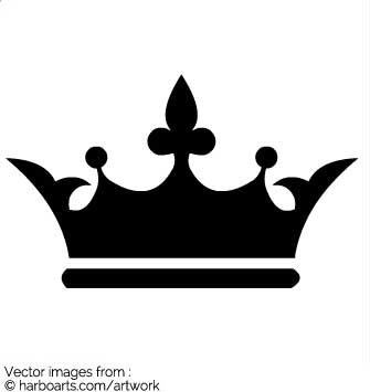 335x355 Black Clipart Royal Crown
