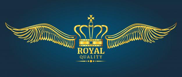 626x268 Golden Vector Crown Royal Quality Logo Template Vector Premium