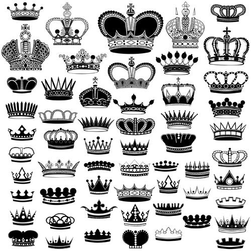 500x500 Royal Crown Vintage Design Vectors 05 Free Download