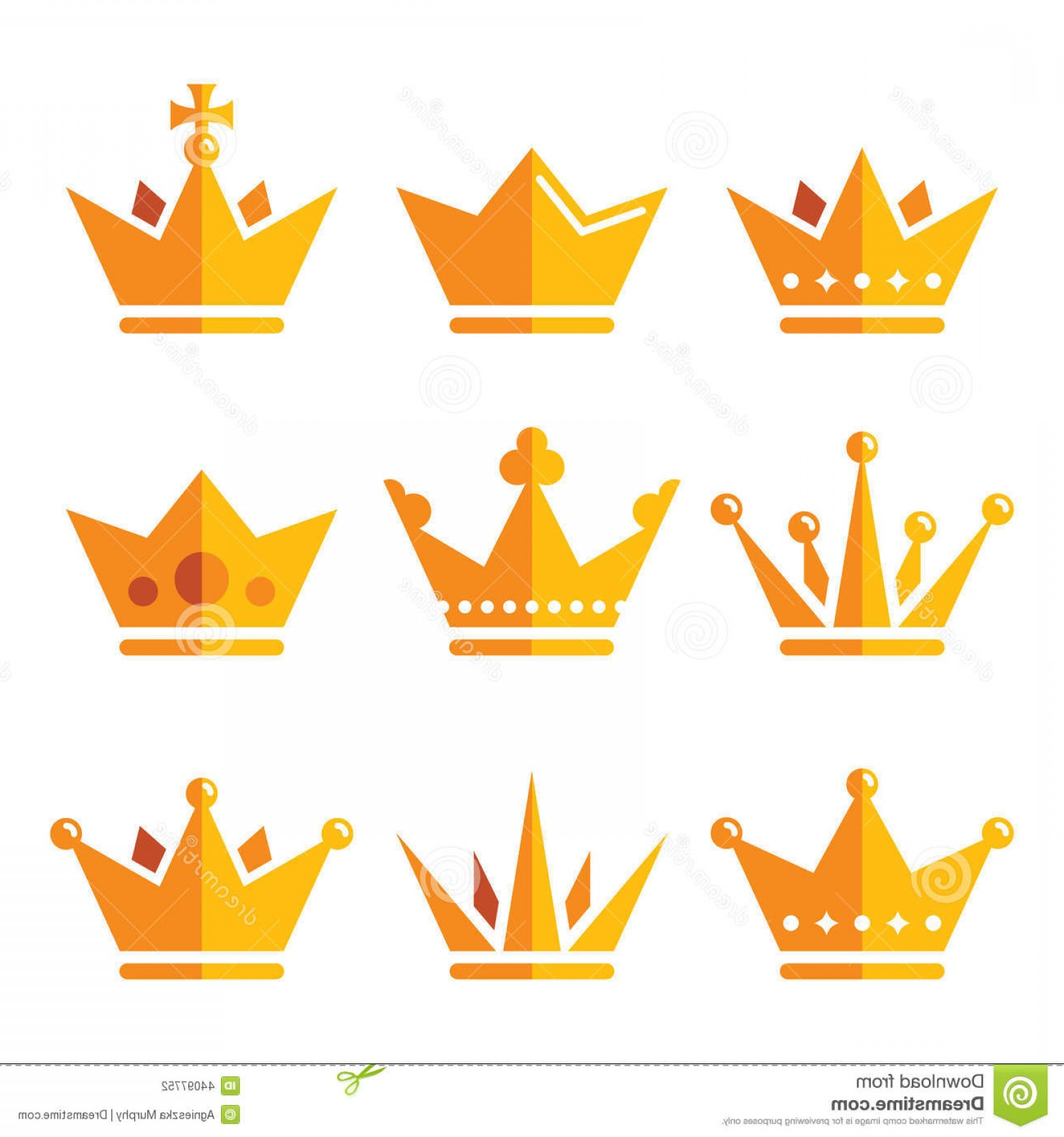 1560x1668 Stock Illustration Gold Crown Royal Family Icons Set King Queen