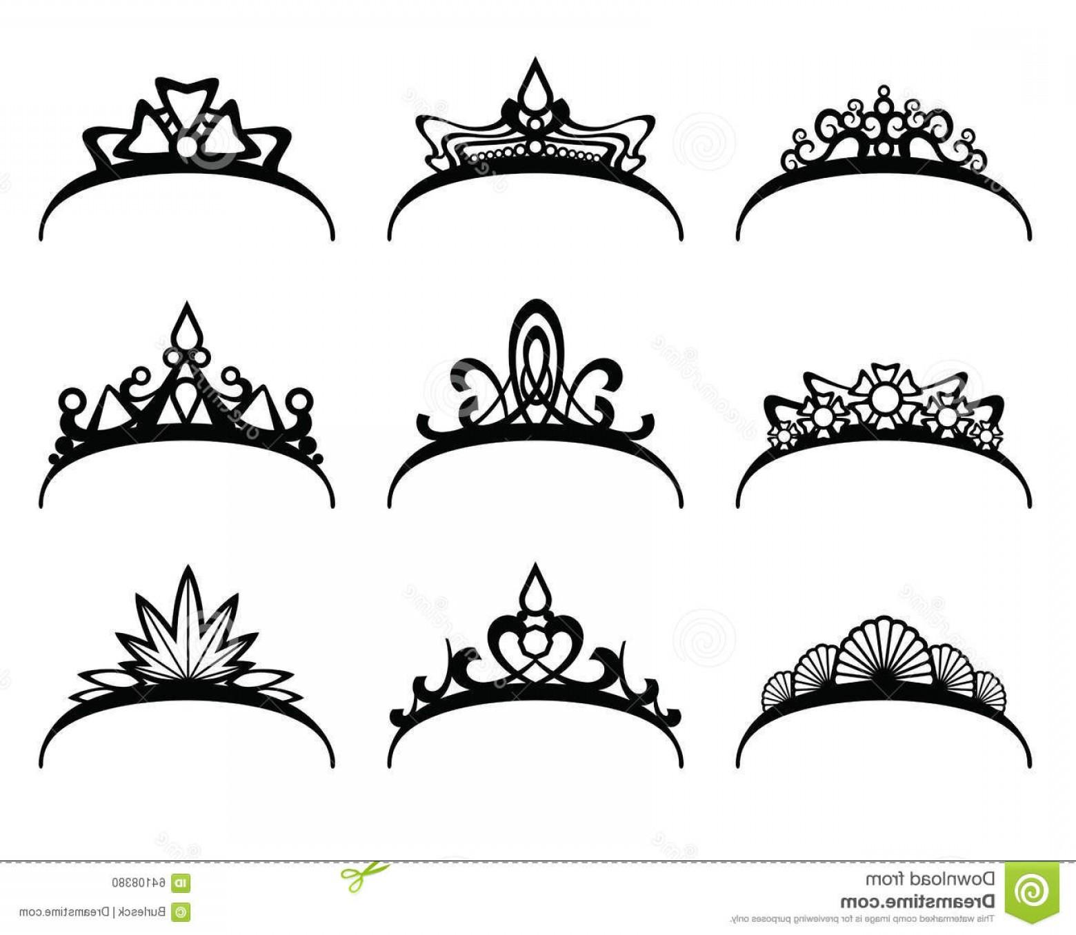 1560x1356 Stock Illustration Vector Tiaras Set Crown Royal Queen Princess
