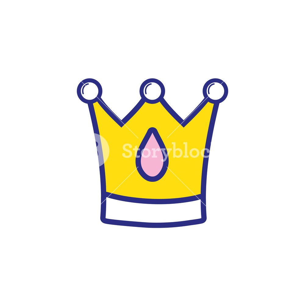 1000x1000 Colorful Crown Royal Luxury Jewelry Object Vector Illustration