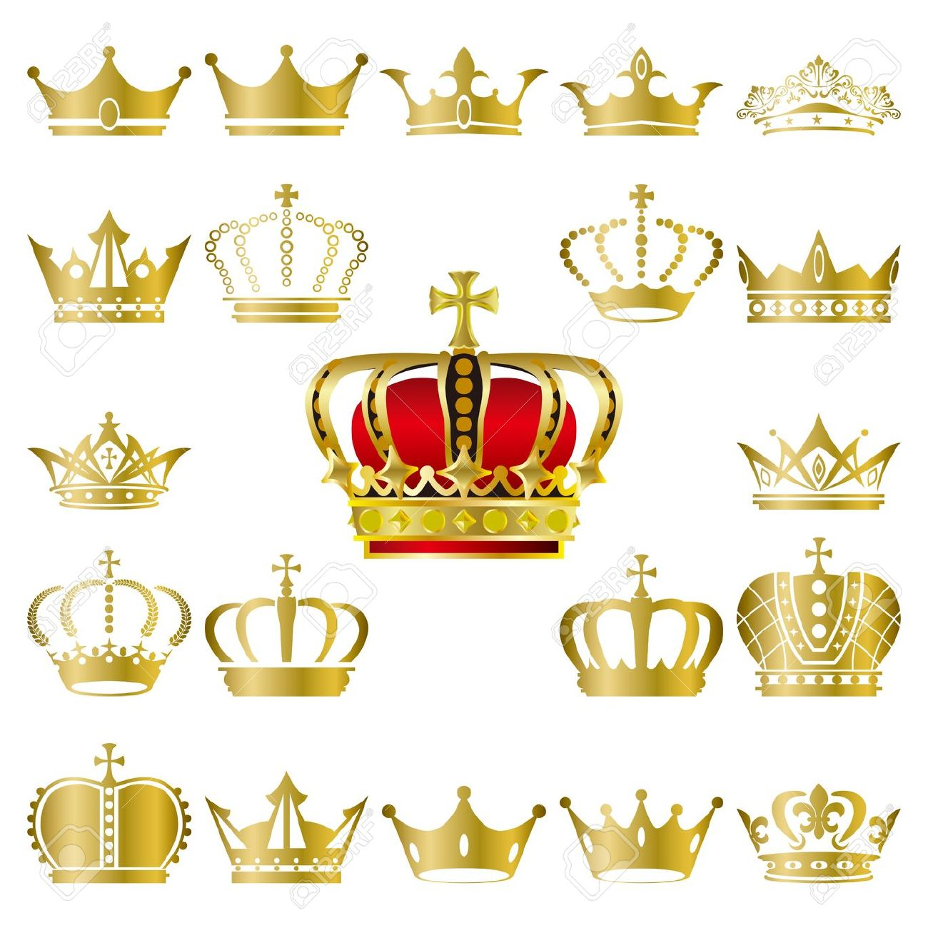 1300x1300 Crown Royal Clipart Vector Gold 9