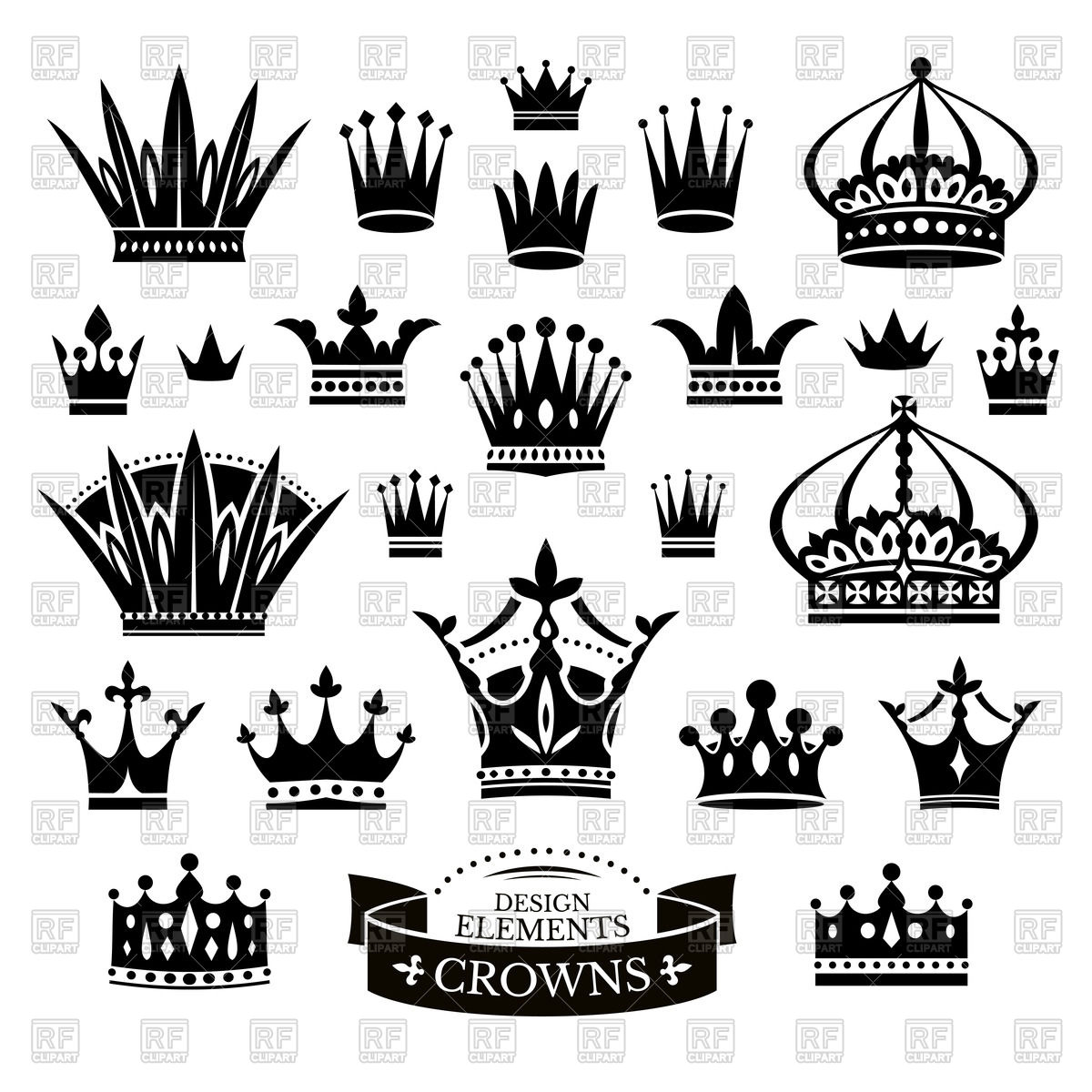 1200x1200 Crowns Vector Image Vector Artwork Of Objects Selenamay