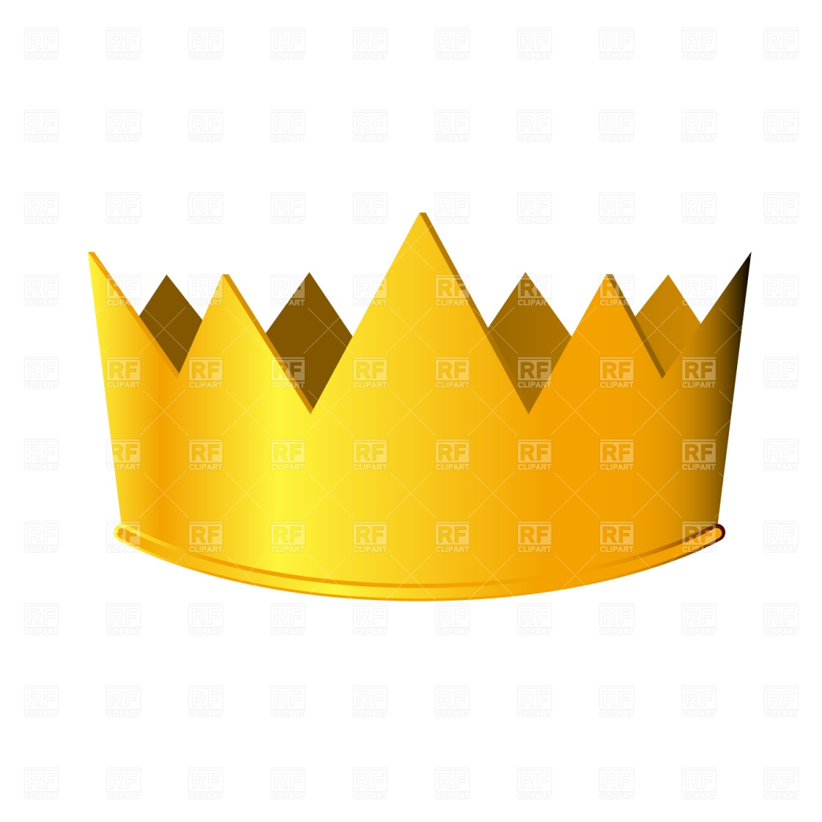 1200x1200 Golden Crown Vector Image Vector Artwork Of Beauty, Fashion